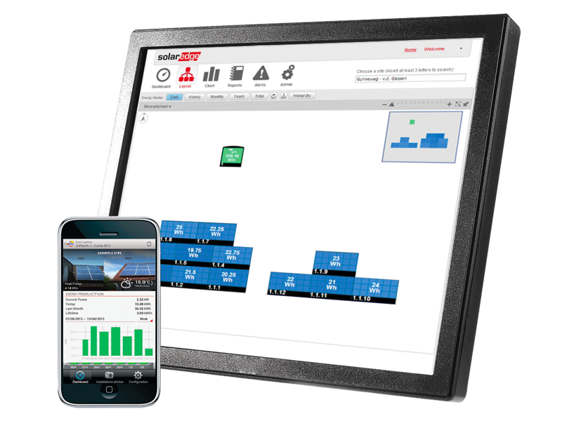 Système de surveillance en ligne SolarEdge monitoring production photovoltaïque Energreen