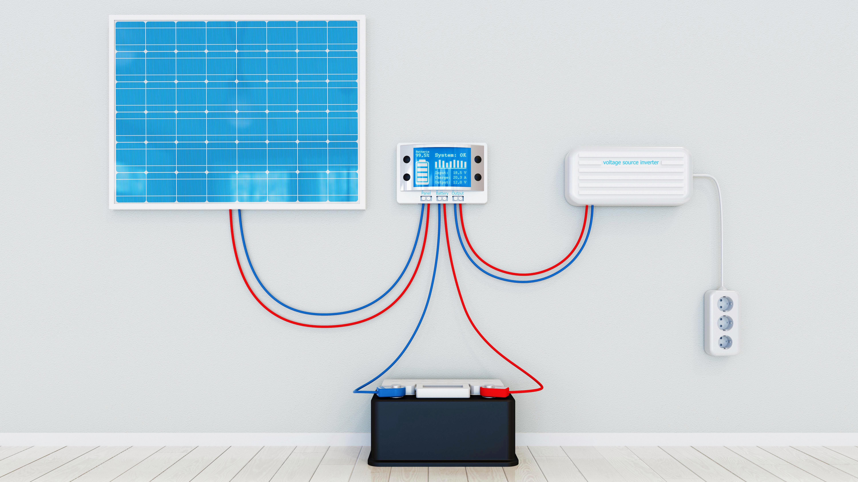 Raccordement panneau photovoltaïque onduleur monitoring et batterie
