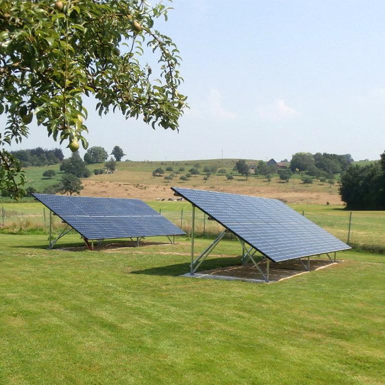 Installation panneaux photovoltaïques au sol Energreen