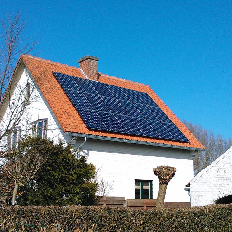 Overbelaste fotovoltaïsche paneleninstallatie Energreen