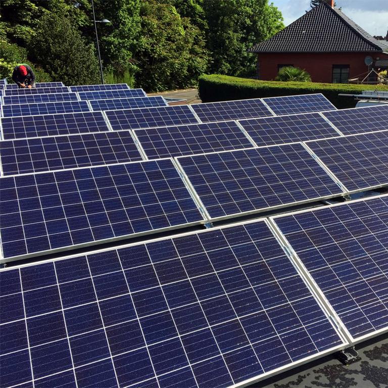 Fotovoltaïsche installatie plat dak Energreen