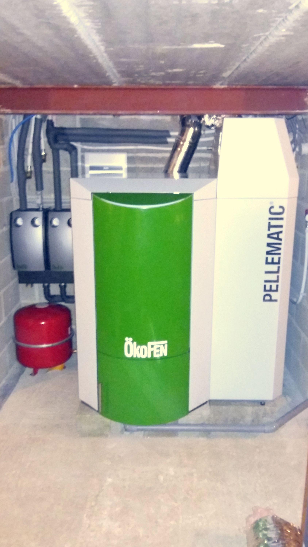 Installation chaudière à pellets Okofen Pellematic Energreen