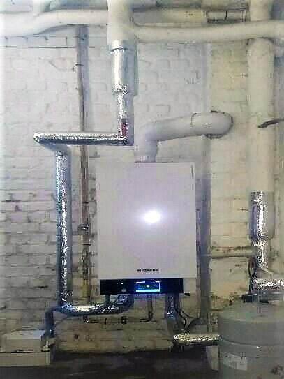 Installation chaudière à condensation murale Viessmann Vitodens Energreen