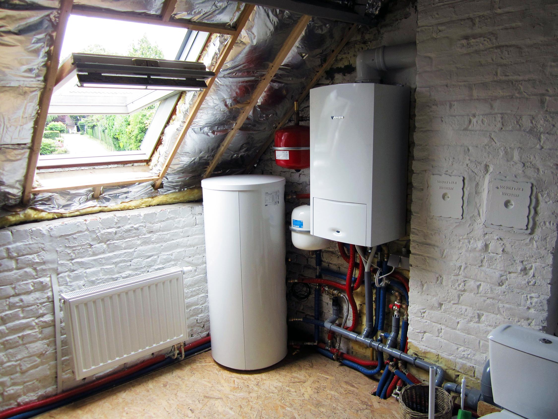 Condensatiegasketel installatie Junkers Energreen