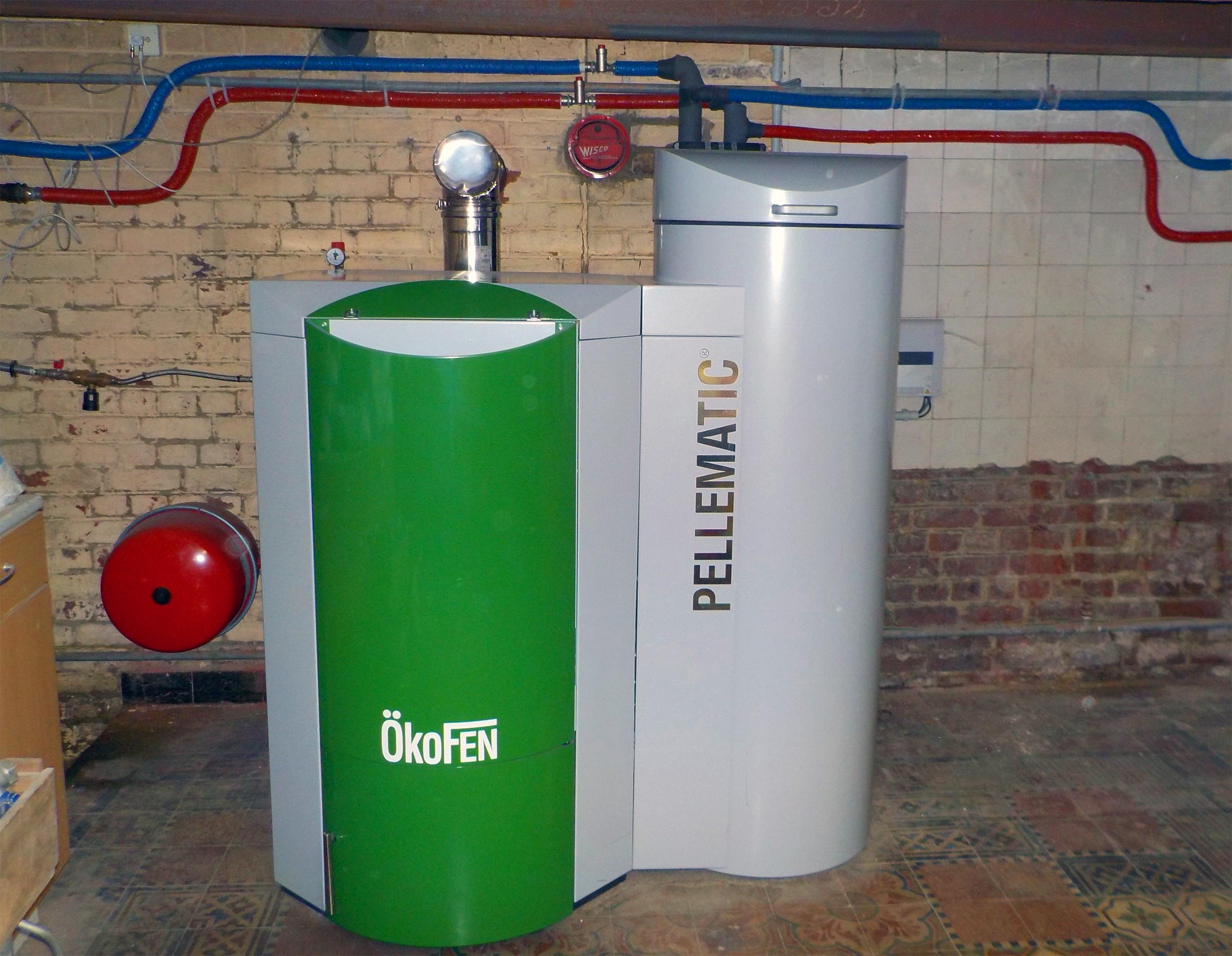 Pelletketel installatie Okofen Pellematic Energreen