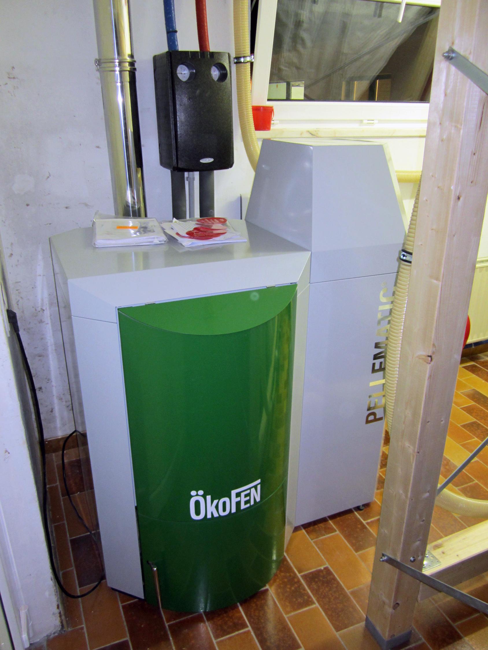 Installation chaudière à pellets Okofen Energreen