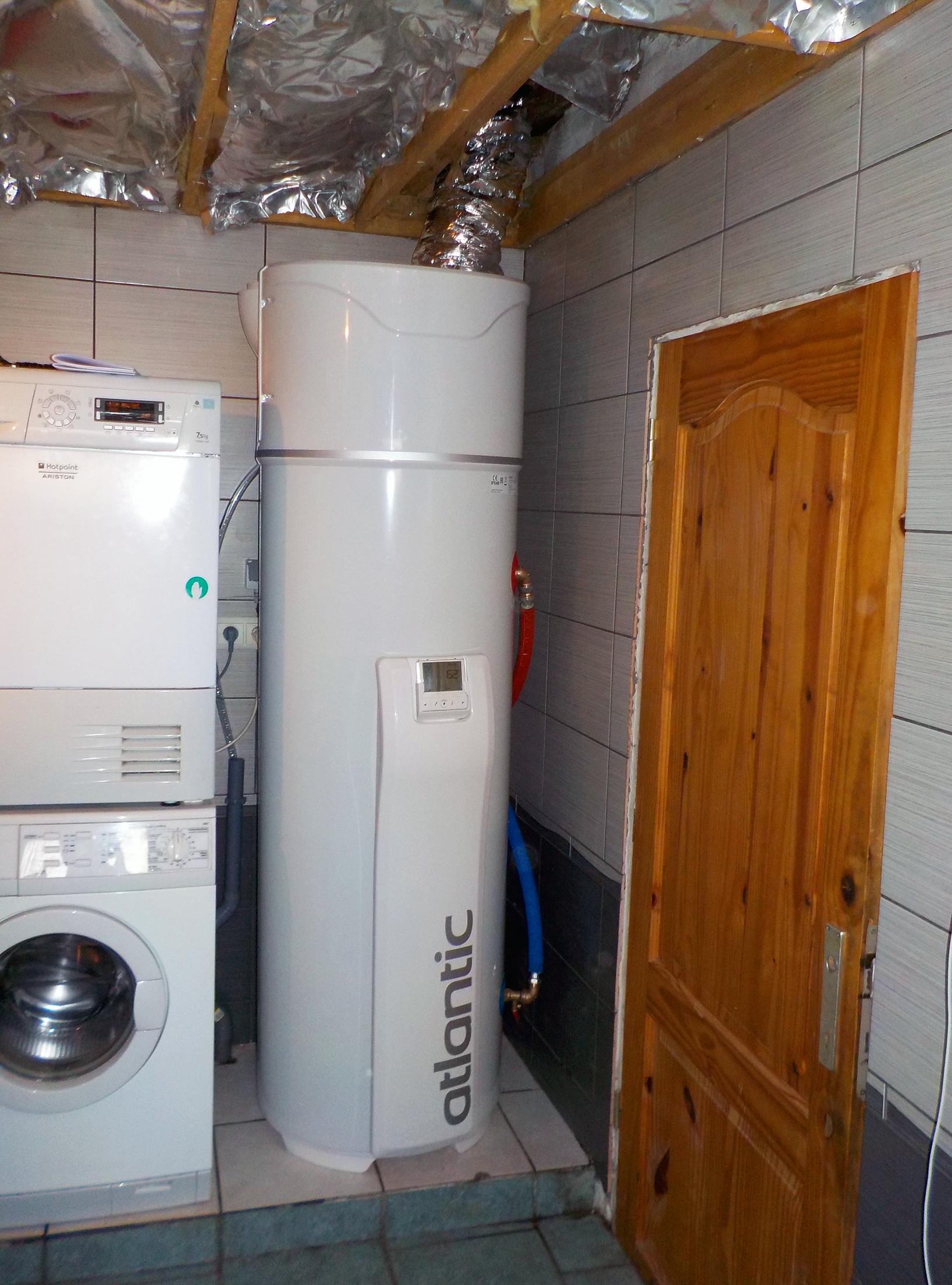 Installation boiler thermodynamique Atlantic Explorer Energreen