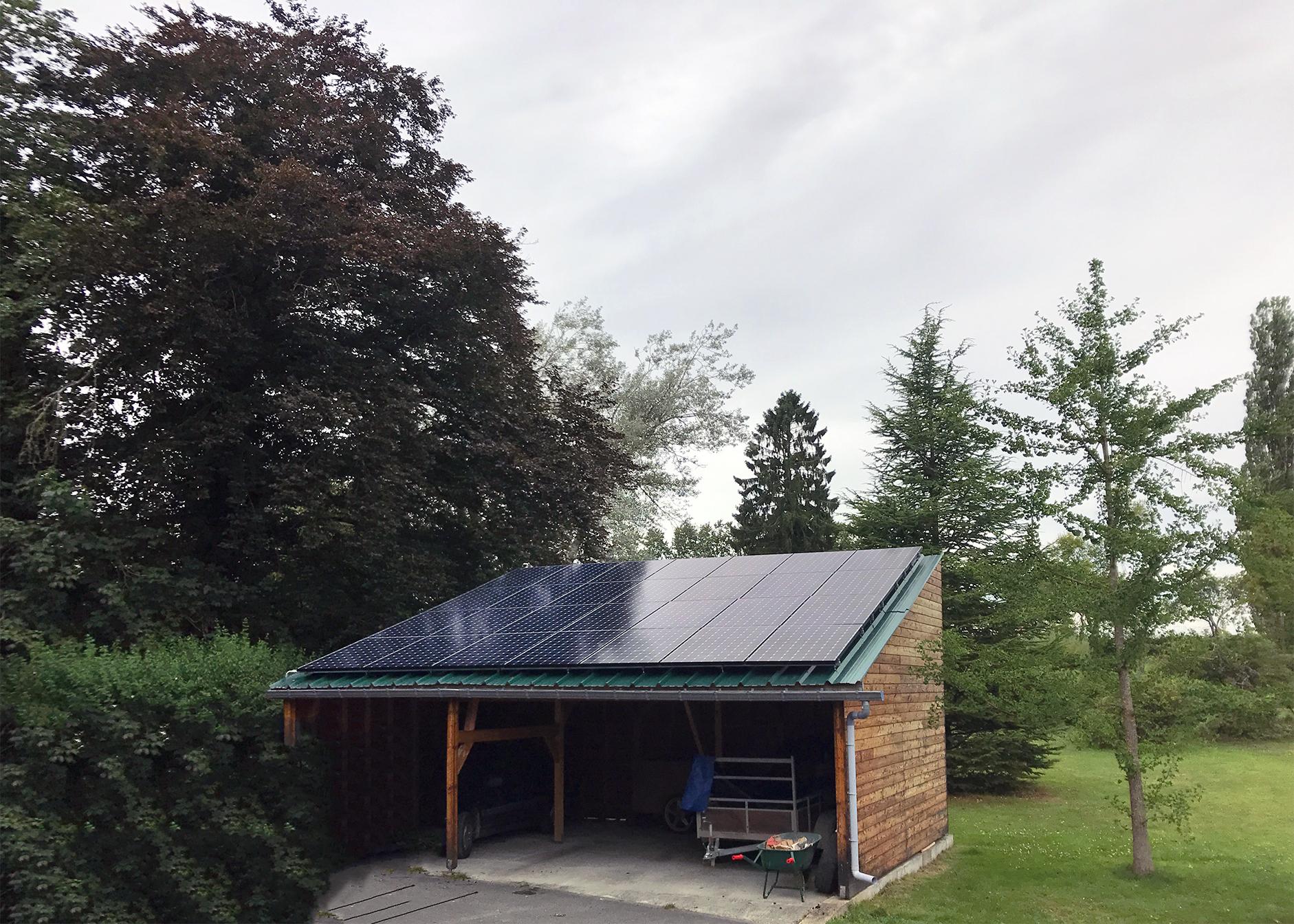Installation panneaux photovoltaïques Sunpower EnergreenInstallation panneaux photovoltaïques Sunpower Energreen