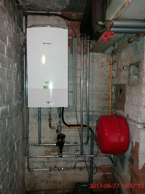 Installation chaudière à condensation murale Junkers Energreen
