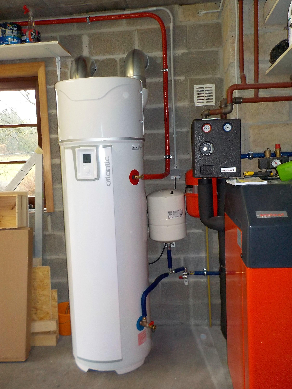 Thermodynamische warmtepompboiler installatie Atlantic Energreen