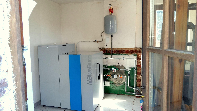 Installation chaudière à pellets BlueBurn Energreen