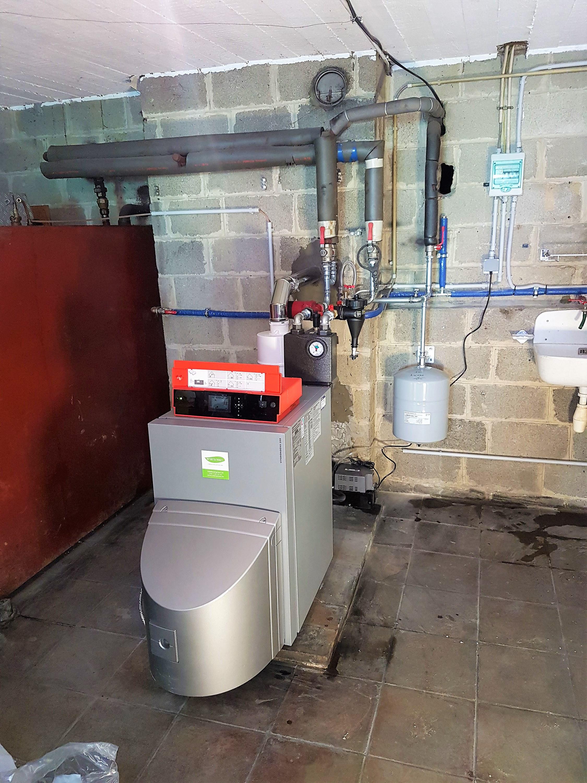 Installation chaudière à pellets Viessmann Vitorondens Energreen