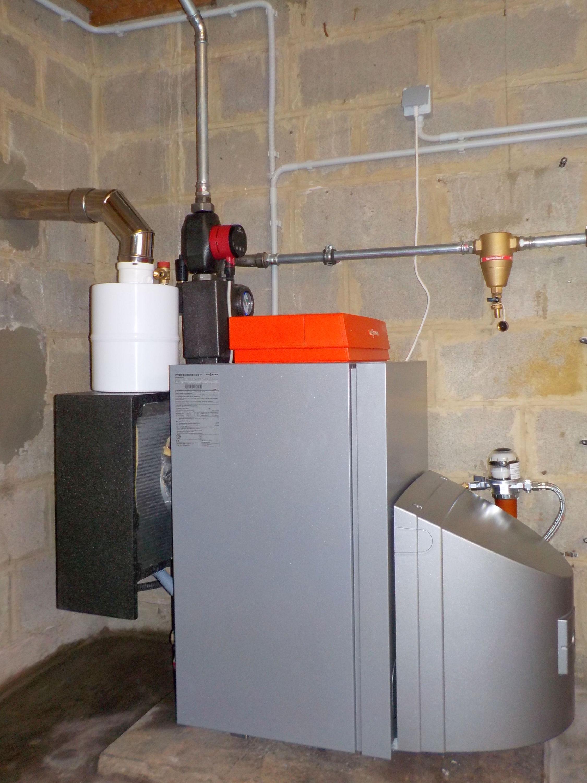 Installation chaudière à condensation sol Viessmann Vitorondens Energreen