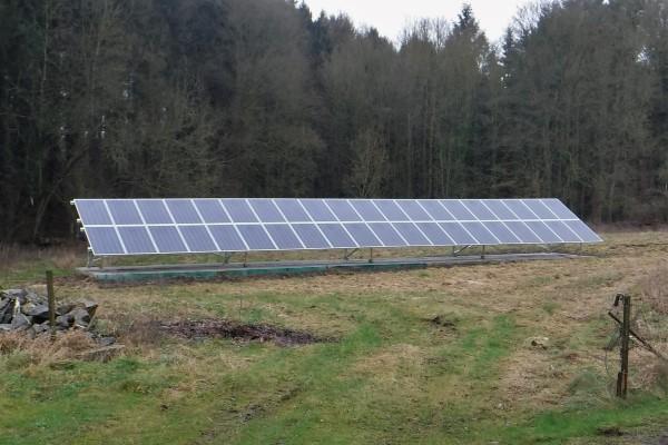 Installation panneaux photovoltaïques IBC Solar au sol Energreen