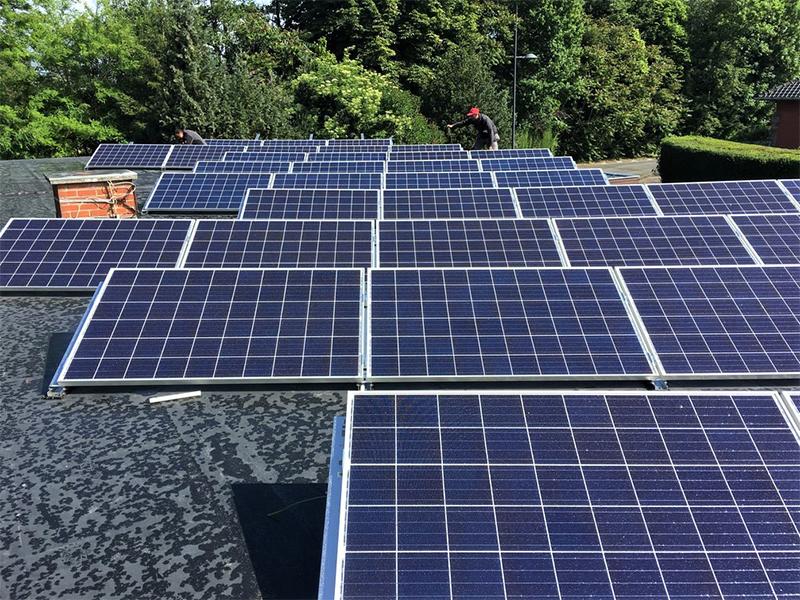 Fotovoltaïsche installatie Jinko Eagle plat dak Energreen