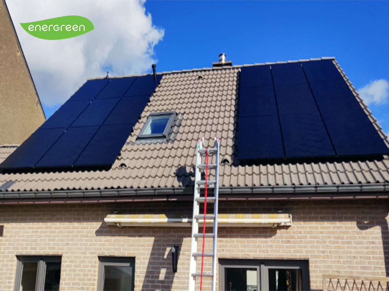 Fotovoltaïsche zonnepanelen installatie Sunpower Performance P3 325 Black Energreen