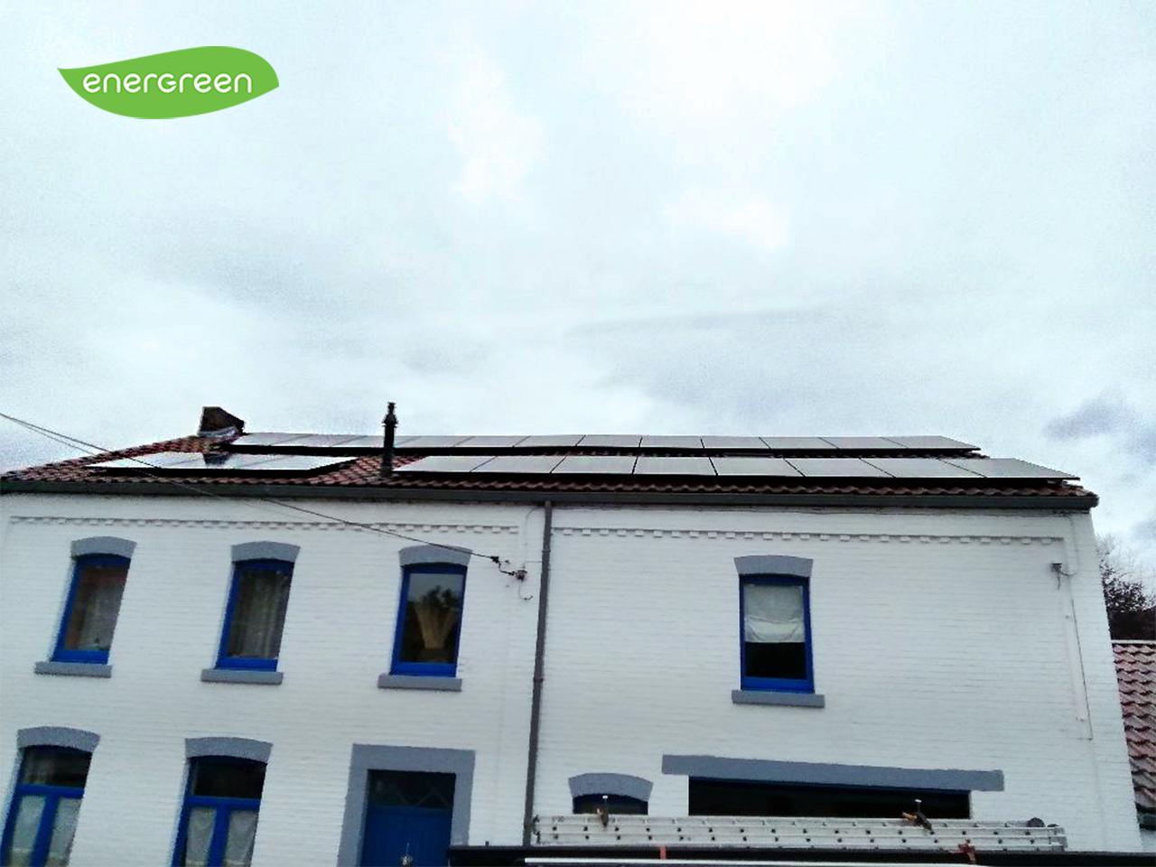 Installation panneaux photovoltaïques Label 15 Energreen